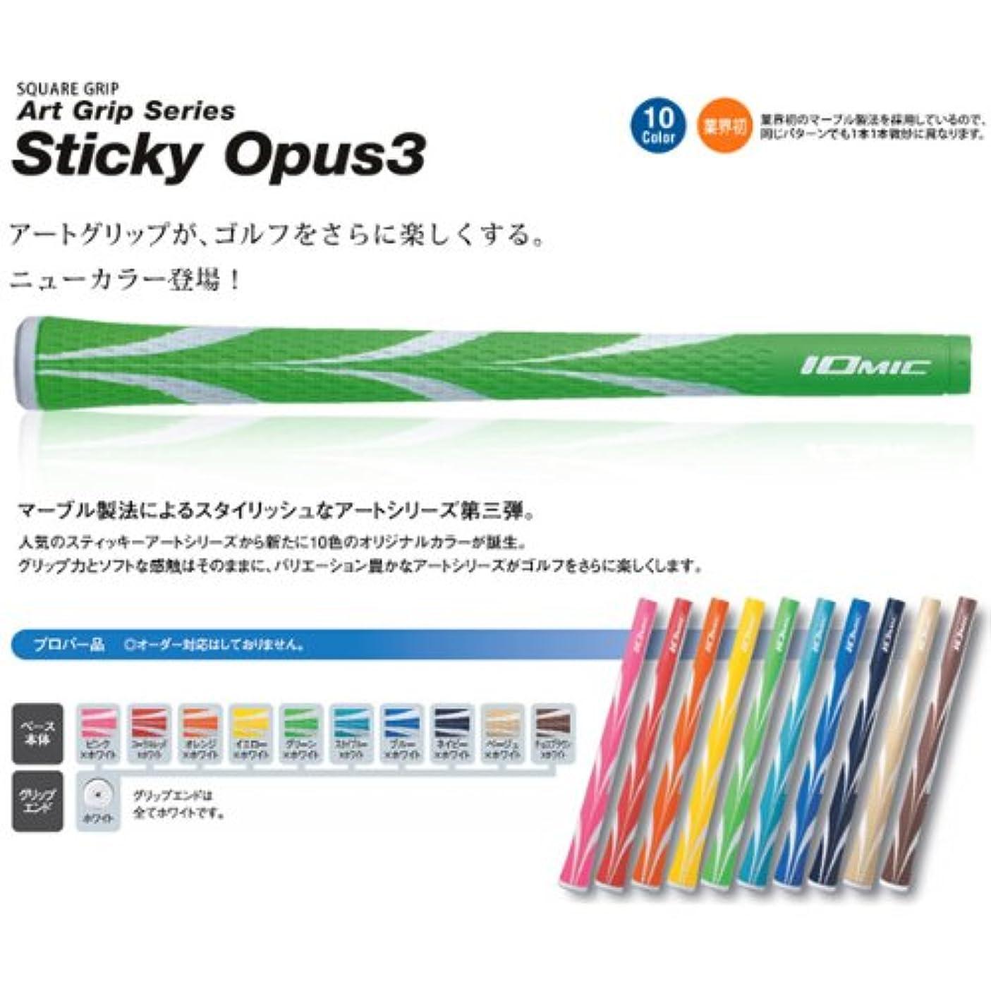 トン料理最悪IOMIC イオミック Art Grip Series アートグリップシリーズSticky Opus3 1.8 プロパー バックライン 有り(ブルー×ホワイト)
