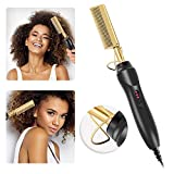 Hot Comb Electric Hot Comb Hot Comb Electric,Electric Heating Comb Multifunctional Copper Hair Straightener Brush- Straightening Comb