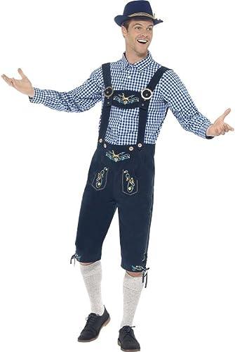 Smiffys Herren Kostüm Bayern Tracht Hemd Trachtenhose Oktoberfest Gr.M