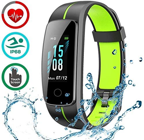 LATEC Fitness Tracker [Ultima Versione], Orologio Fitness Activity Tracker Smart Bracelet Impermeabile IP68 Pedometro Smartwatch con 14 modalità Esercizio/Monitor Battito Cardiaco/Cronometro