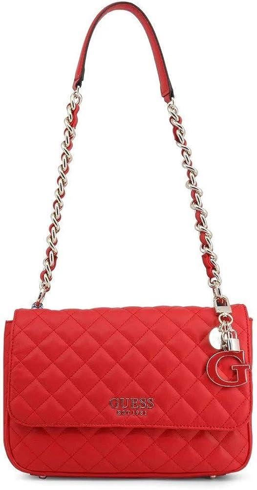 Guess melise shoulder bag,borsa a spalla per donna,in similpelle arricchito da un ciondolo logato 190231339533