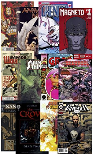 Kersplat! Comics 25 Parental Guidance Comic Books Grab Bag Collection from DC, Marvel & More. Mature SITUATIONS, Violence, Blood & Gore 17+ ~ Guaranteed at Least 1 Deadpool Comic in Every Pack