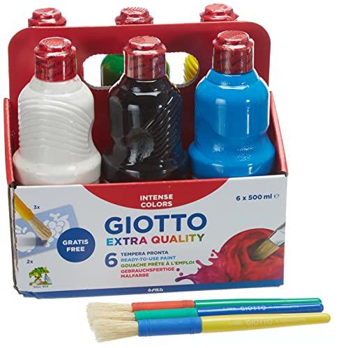 Giotto 533200 - 6 botes de pintura de 500 ml