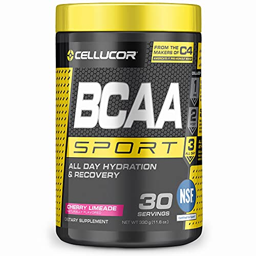 Cellucor BCAA Sport, BCAA Powder Sports Drink for Hydration & Recovery, Cherry Limeade, 30 Servings