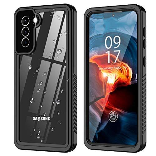 hodudu Funda para Samsung Galaxy S21 Plus 5G, Galaxy S21 Plus impermeable, protector de pantalla integrado, resistente a prueba de golpes, IP68 para iPhone 12 Pro Max 6.7 pulgadas