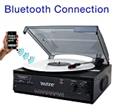 Boytone BT-13B with Bluetooth Connection 3-Speed Stereo Turntable Belt Drive 33/45/78 RPM, 2 built...