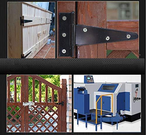 4Pack 4 Inch T Strap Heavy Duty Shed Door Hinges Black Barn Door Gates Tee Hinge Wrought Hardware Iron