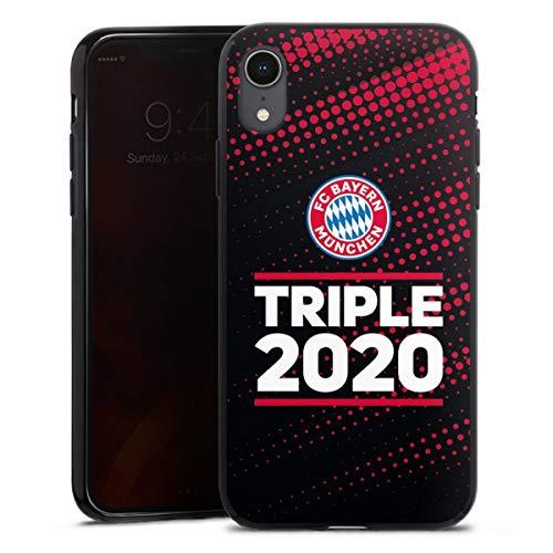 DeinDesign Silikon Hülle kompatibel mit Apple iPhone Xr Case schwarz Handyhülle FC Bayern München FCB Champions League