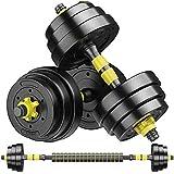 Juego de pesas para levantamiento de pesas y musculación para ejercicios de gimnasia Gimnasio Body Workout Juego de pesas con pesas ajustables Pesas hexagonales de goma Juego de pesas para mujeres Ho