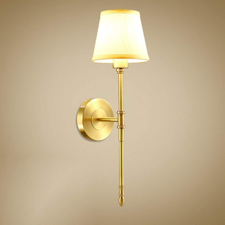 LQB Wandleuchte Europäischen Wohnzimmer Leuchten Alle Kupfer Lampen Lampen Lampen Schlafzimmerleuchten Nachttischlampen Gang Korridor Lichter B07G7LCXXJ | Sonderangebot  fd8f12