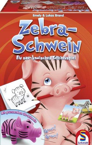 Schmidt Spiele 40513 - Zebra-Schwein. Ein sau-komisches Zeichenspiel
