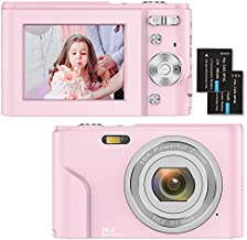Digital Camera,1080P HD 36MP Compact Mini Video Camera 2.4 Inch Rechargeable YouTube Vlogging Camera with 16X Digital Zoom Pocket Camera for Beginners/Seniors/Adult/Teenagers/Kids/Students
