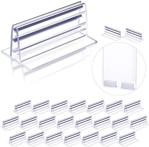24 Pieces Self Adhesive Sneeze Guard Holder Acrylic Panels Holder PVC Sneeze Guard Bracket Mouth product image