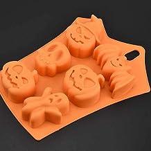 N/R 1pc Herramientas de Postre de Cocina de Halloween de Goma de Silicona Herramientas para Hornear, Naranja
