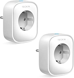 TECKIN Enchufe Inteligente, 16A 3680W Enchufe WiFi Con Monitor de Energía, Compatible con Alexa & Google Home, Enchufe con...