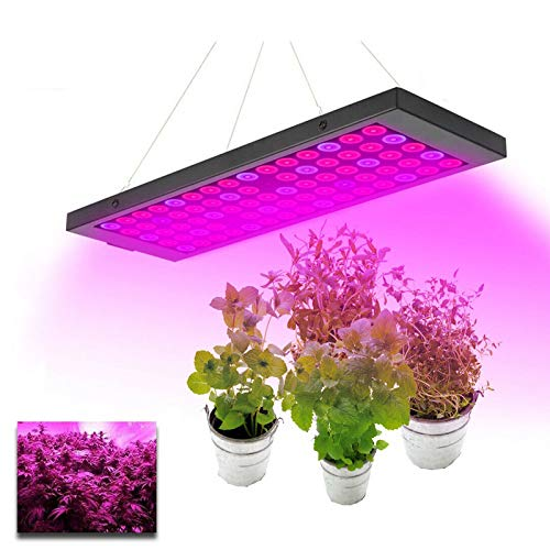 ZJING LED Grow Lights, Full Spectrum Panel Grow Lamp with IR & UV LED Plant Lights for Indoor Plants, Plant Grow Light with for Hydroponic Veg Flower
