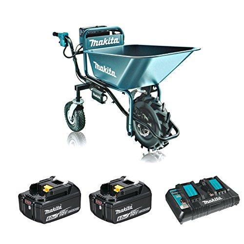マキタ18V充電式運搬車CU180DZ+バケット+バッテリ2個+充電器付セット(アクセサリ収納バッグ付)