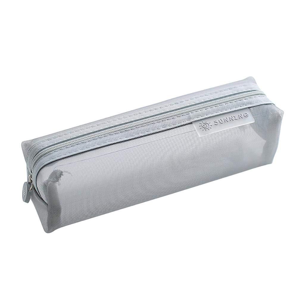 1 estuche de papel de carta de Fansi para el colegio, uso diario, color gris 20.5 * 6 * 6.5cm: Amazon.es: Oficina y papelería