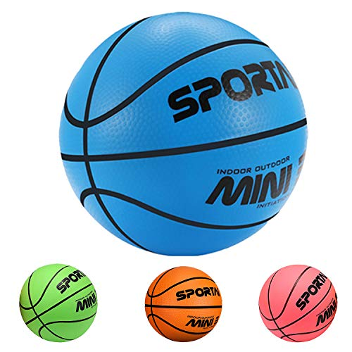 Stylife Mini Basketballs for Kids - 1 PCS Hoop Basketball - First Basketball for Children & Teenagers, 5 Inch Blue