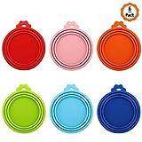 Huayue 6 Stück Silikon Deckel für Dosenfutter Silikondeckel für Katzenfutter Hundefutter Dosendeckel Silikon-Abdeckung für Tierfutterdosen Tiernahrung BPA Frei(Jeder hat 3 Größen:6.5 cm/7.5 cm/8.5 cm)