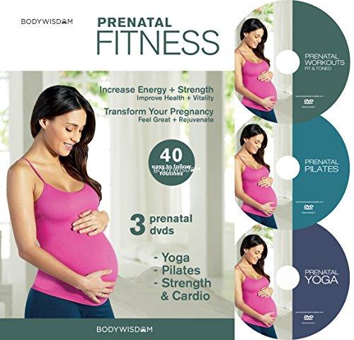 Prenatal Fitness (Deluxe 3 DVD Set - Prenatal Yoga, Pilates & Strength Training) Bonus Post-Natal Routines