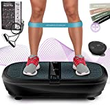 Sportstech Professional Vibration Plate VP300 with 3D Spiral Vibration Technology + Bluetooth A2DP Music+Huge Tread+2 Powerful Engines Unrivaled Design+Training Bands+Remote Control
