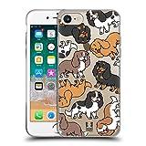 Head Case Designs Épagneuls Cavaliers King Charles Race de Chien Modèle 3 Coque en Gel Doux Compatible avec Apple iPhone 7 / iPhone 8 / iPhone Se 2020