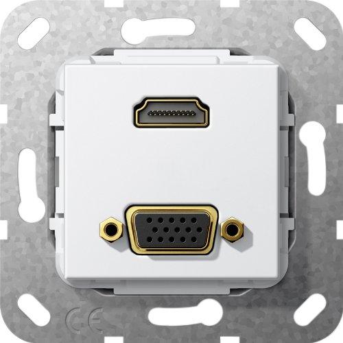 Gira 567603 HDMI, VGA Gender Changer Einsatz, reinweiß