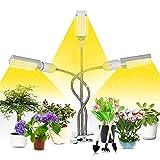 Pflanzenlampe LED Vollspektrum,3 Stunde/6 Stunde /12 Stunde Timing-Funktion,LED Pflanzenlicht 156 LEDs,72w Pflanzenlampe Licht,3 Kopf LED Grow Lights,Wachstumslampe für Pflanzen,Zimmerpflanzen