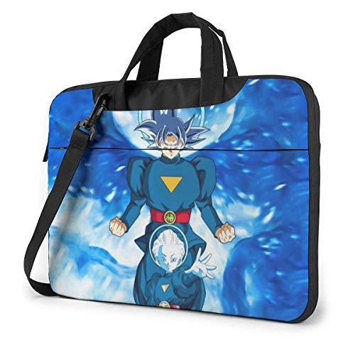Waterproof Laptop Shoulder Messenger Bag, Anime Japanese Manga DBZ Grand Priest Goku VS Whis Briefcase, Computer Sleeve Case