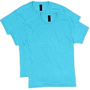 Hanes Men s Short Sleeve X-Temp W/ FreshIQ T-Shirt 2-Pack Turquoise Heather Large