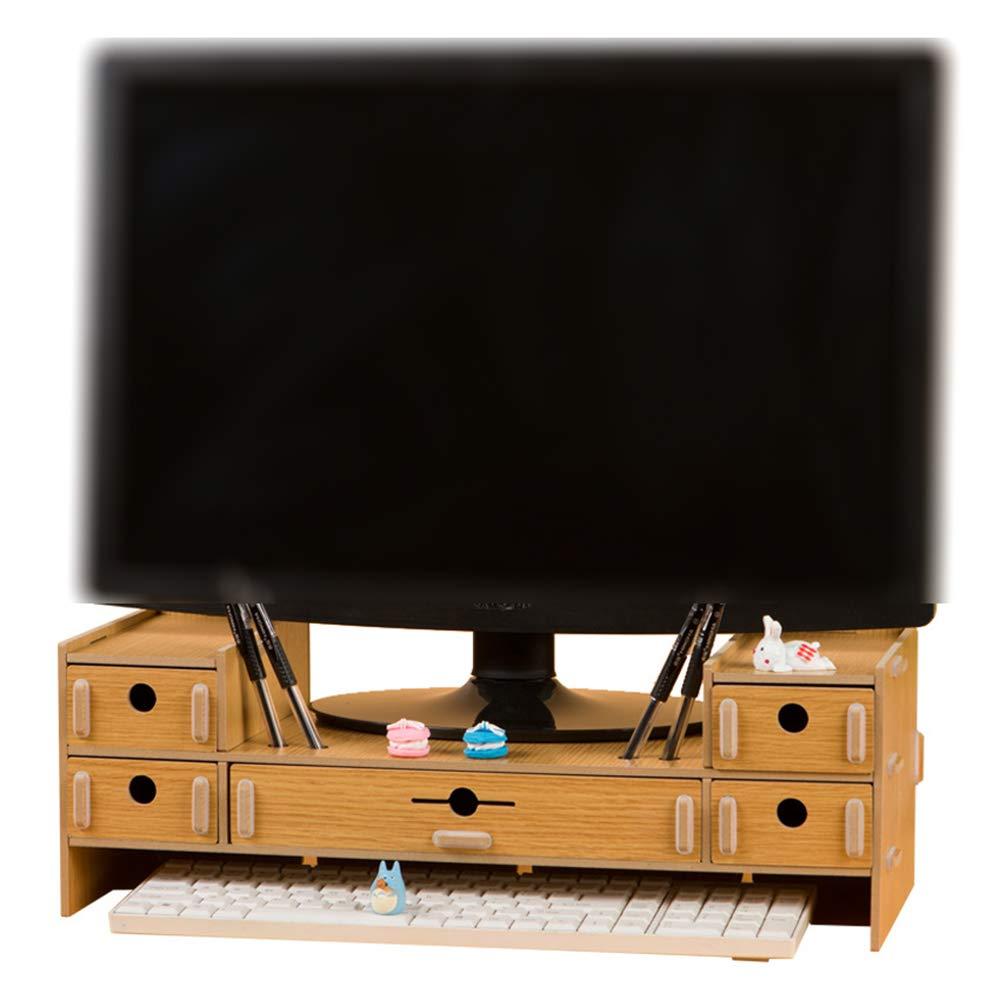 ZXLIFE@@ Notebook LCD del Ordenador Monitor TV Elevada con Cajón De Almacenamiento En Rack Inicio De Escritorio Multifuncional Shelf: Amazon.es: Hogar