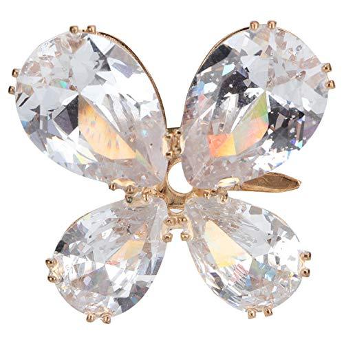 Folany Decoración de Costura de Ropa, Atractivos, encantadores y duraderos, Apliques de Zapatos Finos con Diamantes de imitación de Cristal para Chanclas para la Familia(A Pair)