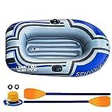 Numkin - Bote hinchable, kayak de pesca grueso, para resistir a roturas, plegable, para dos personas