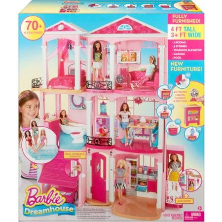Barbie Dreamhouse 3 floors, 7 rooms and a working elevator let kids dream up all kinds of stories, from a...