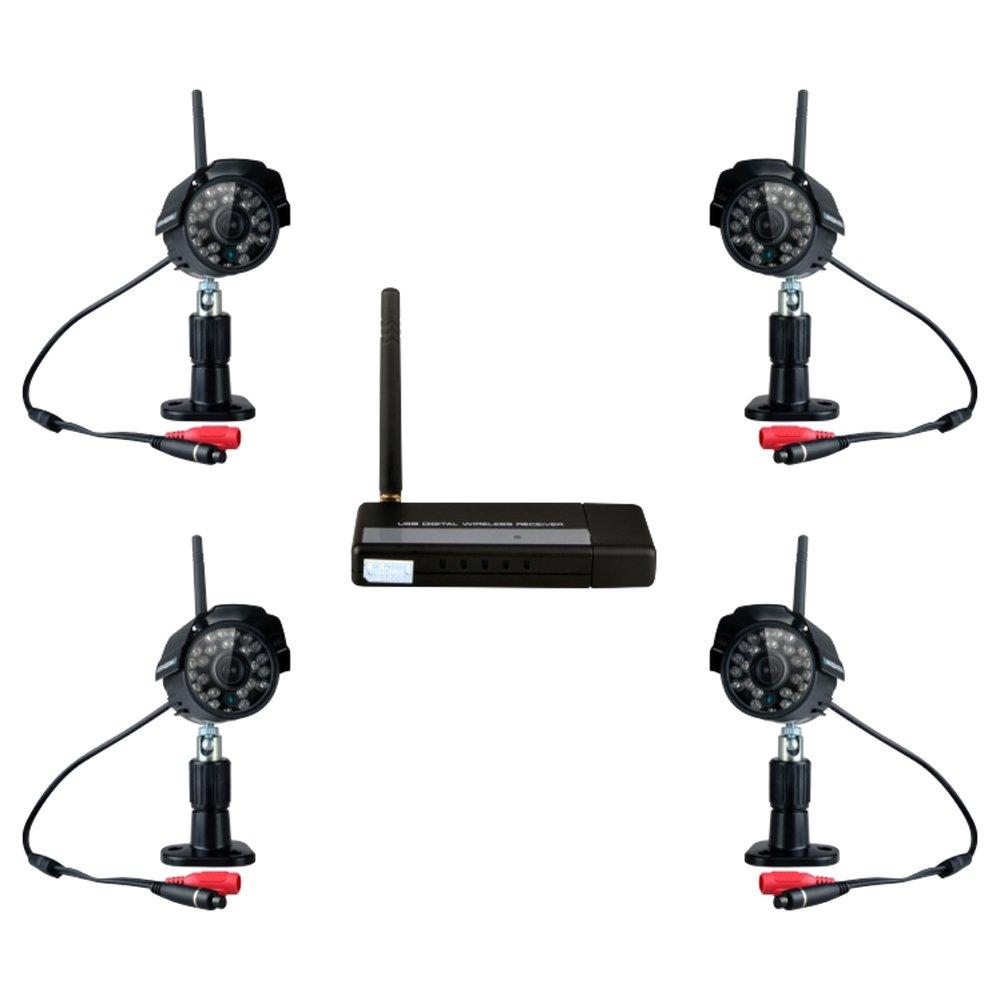 Generic wb7014 – Kit de seguridad WiFi inalámbrica de 2,4 GHz USB Digital sin interferencias IP cámara imagen grabación de vídeo de detección de movimiento por infrarrojos resistente al agua: Amazon.es: Electrónica