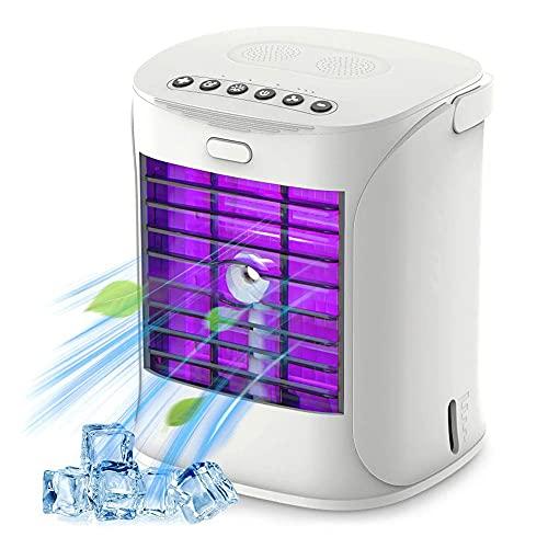 Mini Condizionatore Portatile, Raffreddatore D'aria, 4-in-1 Raffrescatore Ventilatore Umidificatore Depuratore, Raffreddatore D'aria, con 3 Velocità, Per Ufficio Domestico