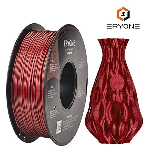 Filament PLA 1,75 mm Sparky Red, Glitter Red, ERYONE PLA Filament für 3D-Drucker und 3D-Stift, 1 kg, 1 Spule