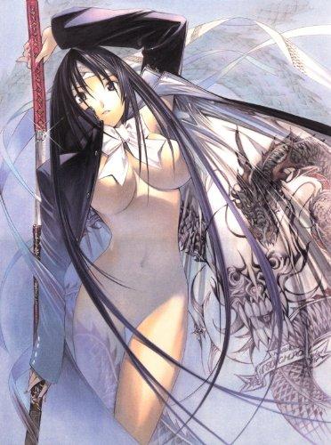 Papier peint photo Nippon Collection, près de Femme Nue zieht Chemins De Votre épée contre Dragon chinois, 4 Haute Qualité Papier peint intissé, 186 x 250 cm