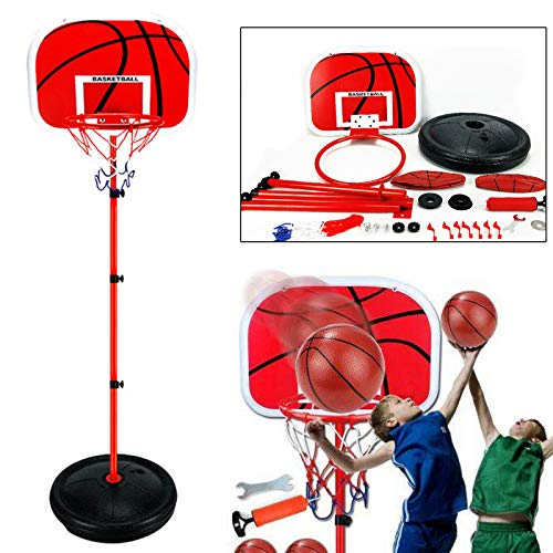 Cane Garden Adjustable 170cm Kids Basketball Back Board Stand & Hoop Set Children Gift UK