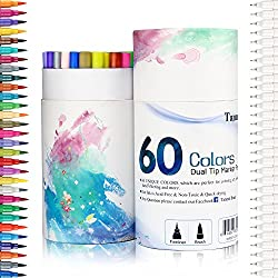 If You Want To Color With Markers This Is Probably The Set Each Pen Has Dual Tips One For Fine Detail Work And Calligraphy Larger