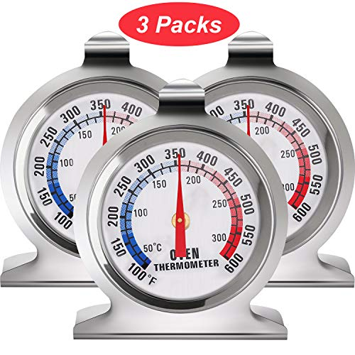 In OvenThermometer Oven Grill Fry Chef Smoker Thermometer Instant Read Stainless Steel Thermometer...