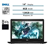2020 Newest Dell Inspiron14 inch Laptop, Intel 10 Generation Core i5-1035G4 (Up to 3.7GHz), 8GB RAM, 128GB SSD, HDMI, WiFi, Intel UHD Graphics, Bluetooth, Windows 10 w/ Saiborie Accessories