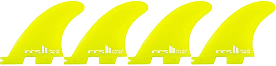 FCS II Carver Neo Glass Quad Rear Surfboard Fins One Color, M