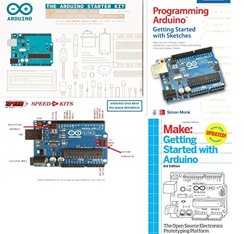 Arduino Starter Kit - English Official Kit with 170 Page Book - K000007 Plus 2-Bonus Book and PIN-Out Chart Bundle