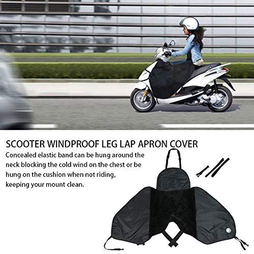Forwei Coprigambe per Scooter, coprigambe per Grembiule, coprigambe, coprigambe Largo Protezione Antivento per Gambe Calde per Scooter Solo Auto elettriche Nero