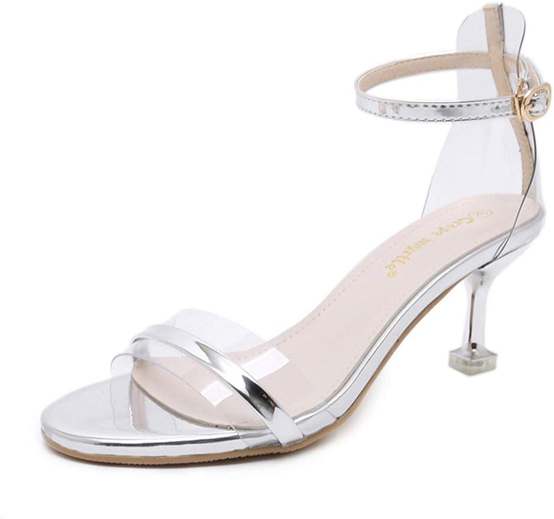 Gusha Women's Basic high Heel Sandals Open Toe high Heels Buckle high Heels
