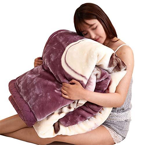 Manta Invierno Coral Fleece Manta súper Gruesa Manta de Cubierta Manta de Doble Grosor Warm Plus Fleece Manta para sofá Suave y Lavable a máquina Pasta de Frijoles Grises (Size : 59x78.7 Inches)
