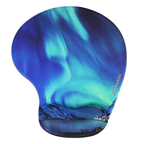 Lizimandu Non Slip Mouse Pad Wrist Rest for Office, Computer, Laptop & Mac - Durable & Comfortable & Lightweight for Easy Typing & Pain Relief-Ergonomic Support(Northern Light)