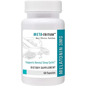 Metatrition Melatonin 3mg Nutritional Supplements, 60 Count